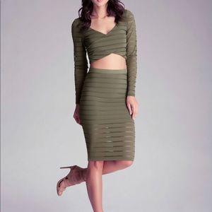 Bebe top and skirt